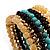 Boho Style Wide Wood&Acrylic Bead Cuff Bracelet - view 4