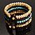 Boho Style Wide Wood&Acrylic Bead Cuff Bracelet - view 8