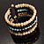 Boho Style Wide Wood&Acrylic Bead Cuff Bracelet - view 10