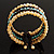 Boho Style Wide Wood&Acrylic Bead Cuff Bracelet - view 7