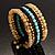 Boho Style Wide Wood&Acrylic Bead Cuff Bracelet - view 6
