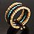 Boho Style Wide Wood&Acrylic Bead Cuff Bracelet - view 2