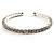 Clear Crystal Thin Flex Bangle Bracelet (Silver Tone) - view 2