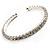 Clear Crystal Thin Flex Bangle Bracelet (Silver Tone) - view 3