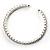 Clear Crystal Thin Flex Bangle Bracelet (Silver Tone) - view 6