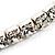 Clear Crystal Thin Flex Bangle Bracelet (Silver Tone) - view 4
