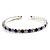 Clear&Blue Crystal Thin Flex Bangle Bracelet (Silver Tone) - view 5