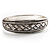 Vintage Braided Hinged Bangle Bracelet (Antique Silver Tone) - view 6