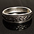 Vintage Braided Hinged Bangle Bracelet (Antique Silver Tone) - view 5