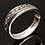 Vintage Braided Hinged Bangle Bracelet (Antique Silver Tone) - view 7
