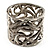 Curling Snakes Chunky Mesh Bangle (Burn Silver Tone)
