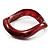 Light Crimson Curvy Acrylic Bangle Bracelet