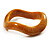 Antique Yellow  Curvy Acrylic Bangle Bracelet