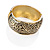 Wide Burnished Gold Plated Ethnic Bangle Bracelet - 33mm Width (Hinged) - view 12