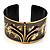 Stylish Black 'Crown' Ethnic Cuff Bangle - view 9