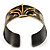 Stylish Black 'Crown' Ethnic Cuff Bangle - view 13