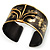 Stylish Black 'Crown' Ethnic Cuff Bangle - view 3