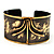 Stylish Black 'Crown' Ethnic Cuff Bangle - view 4