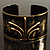 Stylish Black 'Crown' Ethnic Cuff Bangle - view 16