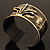 Stylish Black 'Crown' Ethnic Cuff Bangle - view 17