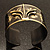 Stylish Black 'Crown' Ethnic Cuff Bangle - view 5