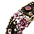 Victorian Pink Crystal Floral Flex Cuff Bangle (Bronze Tone) - view 2