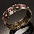 Victorian Pink Crystal Floral Flex Cuff Bangle (Bronze Tone) - view 5