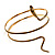 Antique Gold Snake Armlet Bangle - view 3