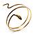 Antique Gold Snake Armlet Bangle - view 6