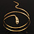 Antique Gold Snake Armlet Bangle - view 9