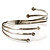 Silver Tone Crystal Armlet Bangle - Adjustable - view 4