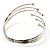 Silver Tone Crystal Armlet Bangle - Adjustable - view 7