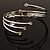 Silver Tone Crystal Armlet Bangle - Adjustable - view 9