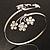 Rhodium Plated Diamante Floral Upper Arm Bracelet - view 5