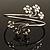 Rhodium Plated Diamante Floral Upper Arm Bracelet - view 9