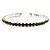Light Olive Crystal Thin Flex Bangle Bracelet (Silver Tone) - view 3