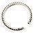 Light Olive Crystal Thin Flex Bangle Bracelet (Silver Tone) - view 4