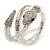 Dazzling Coil Flex Snake Bangle Bracelet (Silver Tone) - view 2