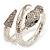 Dazzling Coil Flex Snake Bangle Bracelet (Silver Tone) - view 10