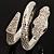 Dazzling Coil Flex Snake Bangle Bracelet (Silver Tone) - view 12