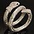 Dazzling Coil Flex Snake Bangle Bracelet (Silver Tone) - view 9