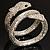 Dazzling Coil Flex Snake Bangle Bracelet (Silver Tone) - view 14
