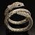 Dazzling Coil Flex Snake Bangle Bracelet (Silver Tone) - view 5