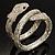 Dazzling Coil Flex Snake Bangle Bracelet (Silver Tone) - view 6