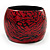 Oversized Chunky Wide Wood Bangle (Black & Red) - Medium Size - view 5