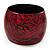 Oversized Chunky Wide Wood Bangle (Black & Red) - Medium Size