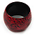 Oversized Chunky Wide Wood Bangle (Black & Red) - Medium Size - view 6