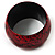 Oversized Chunky Wide Wood Bangle (Black & Red) - Medium Size - view 7