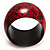 Oversized Chunky Wide Wood Bangle (Black & Red) - Medium Size - view 4