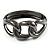 Gun Metal Knot Hinged Bangle Bracelet